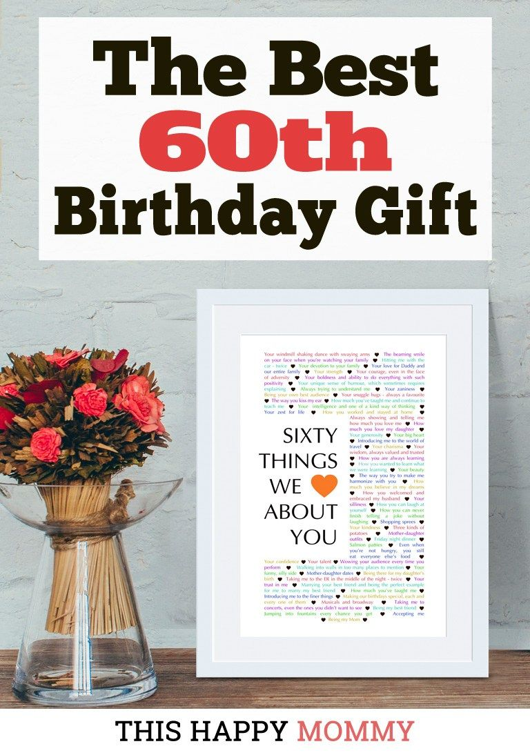 60 things we love about you the best 60th birthday