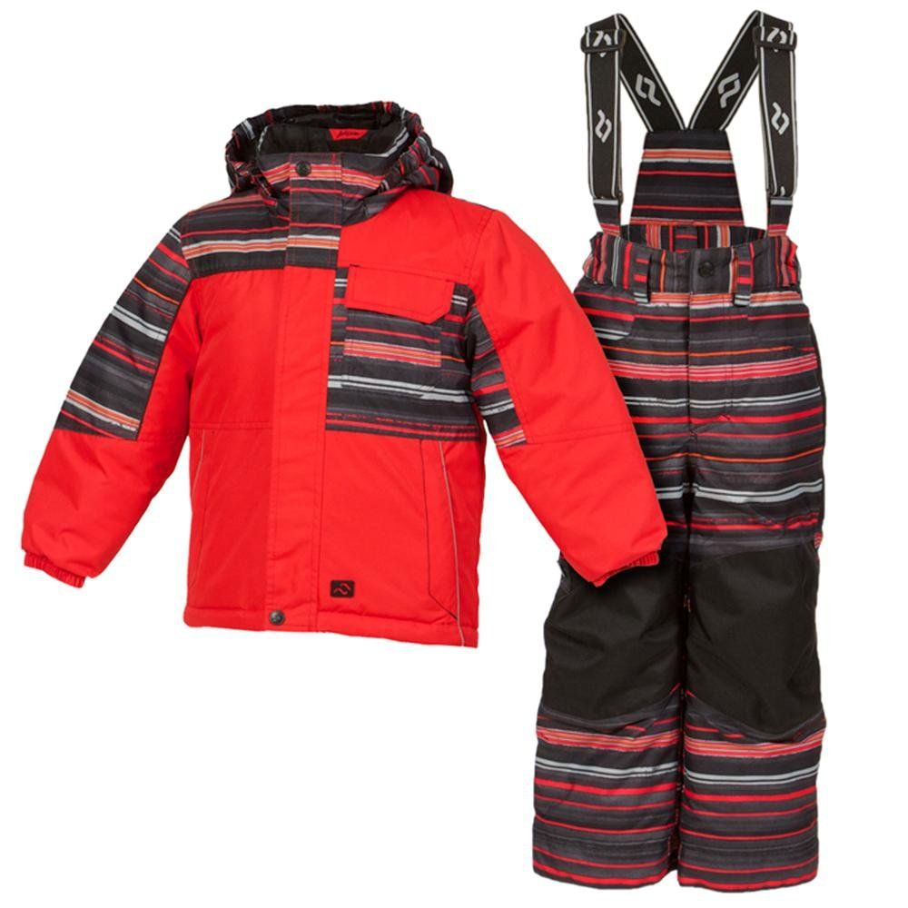 Jupa Nikolai 2-Piece Ski Suit Toddler Boys. Jupa?s Nikolai 2 Piece Ski Suit gives him all he needs to help him stay warm all day The Jupa Nikolai Suit combines Dridux waterproof fabric with an extra water repellent finish on the surface to keep him dry It also helps to protect against liquid stains which makes it extra kid friendly Thermadux high loft insulation traps warm air to keep him nice and cozy out in the snow Theres also a removable balaclava included to keep cold air off of his...
