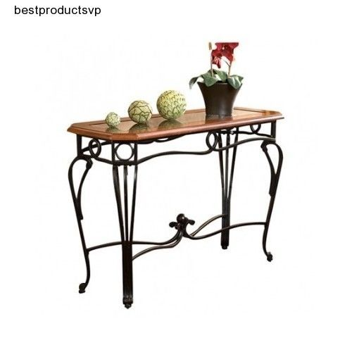 Ebay Wrought Iron Sofa Table Console Wood Entryway Black Wooden Hall Entry Cherry Mdf Southernenterprisesinc Vintage