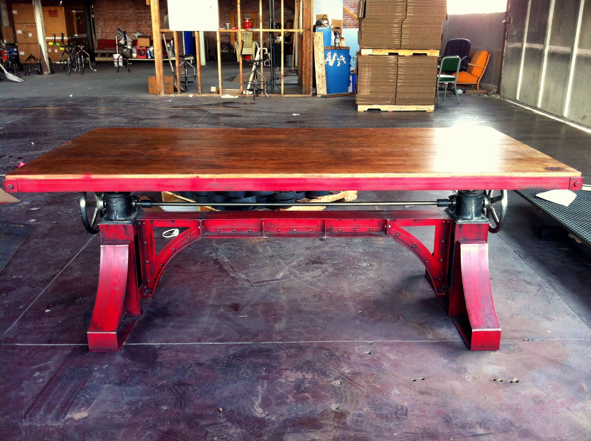 Bronx Table by Vintage Industrial LLC in Phoenix | Metal furniture ...