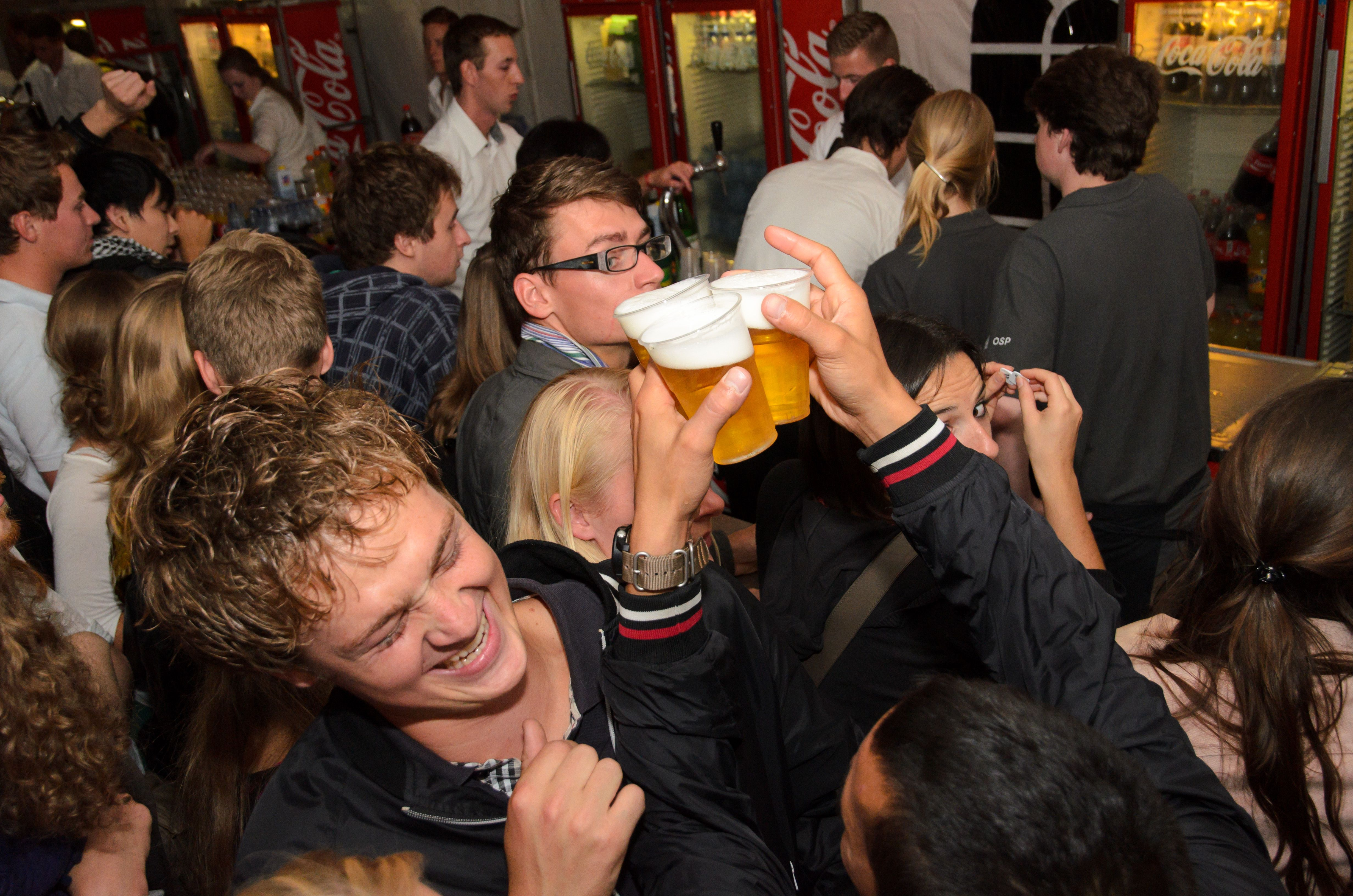 Cheers at Opening Orion Student Party in Wageningen, #openingorion