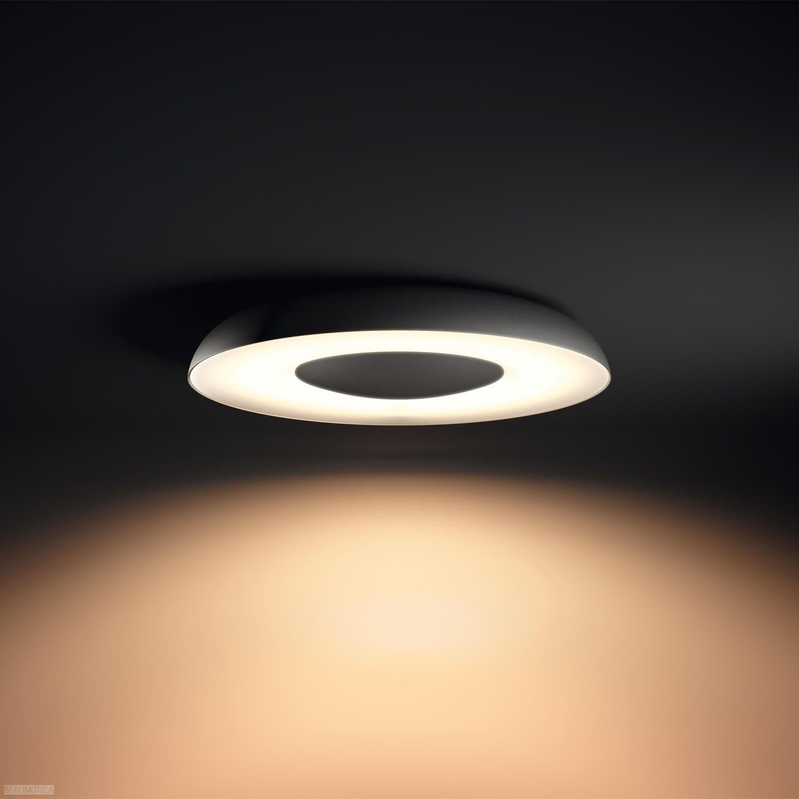 Philips Hue Still Plafondlamp Zwart White Ambiance Incl Dim Switch In 2020 Hue Ceiling Pendant Pendant Lighting