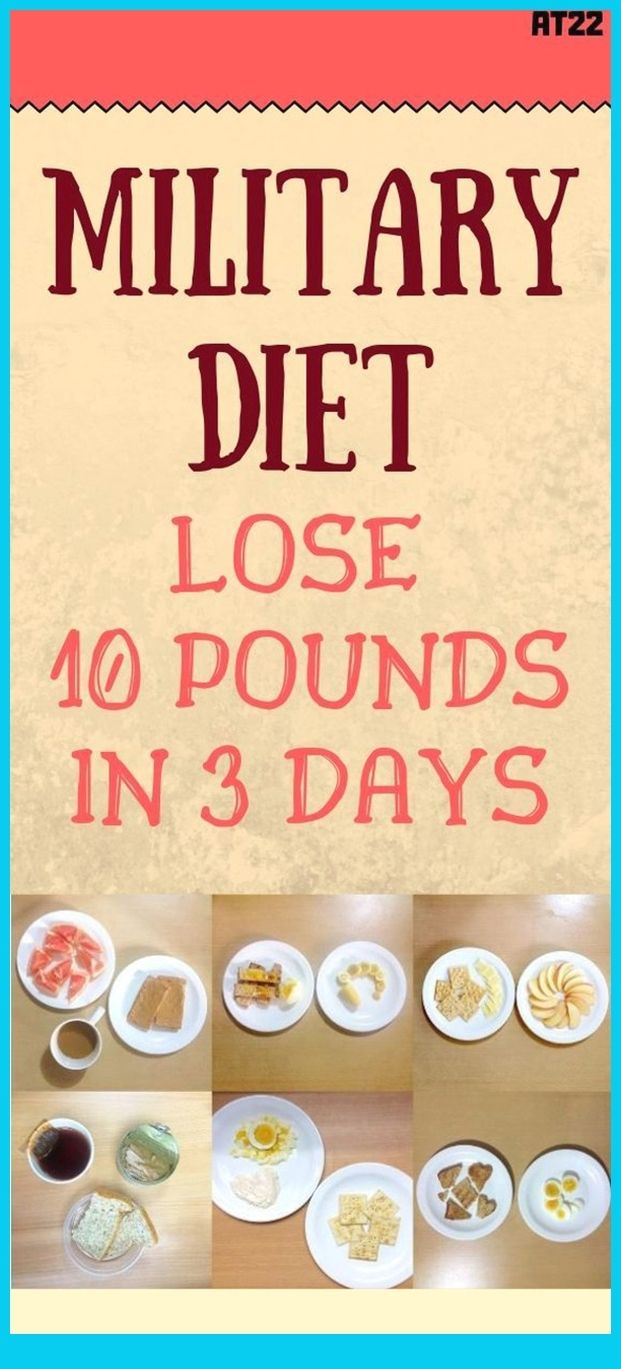 This 3-Day Or Military Diet, As The Title Itself,