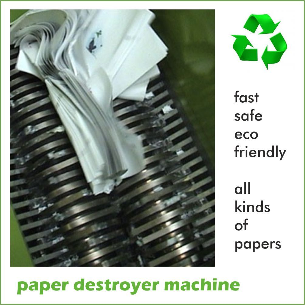 Paper Destroyer Machine Company Paper