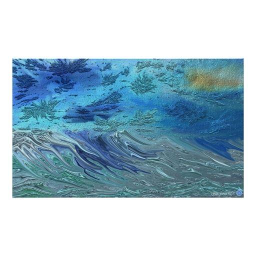 Crashing Waves Canvas Print Print