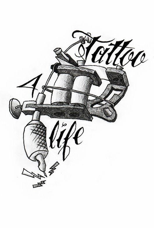 Photo of Simple Cartoon Tattoo Gun