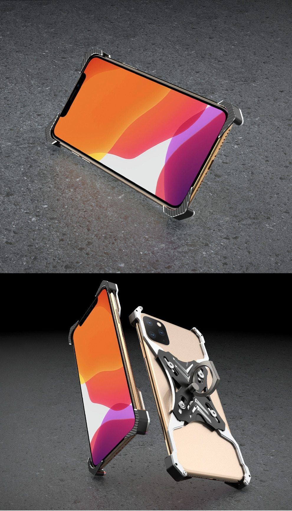 Free shipping aluminum metal bumper case for iphone with