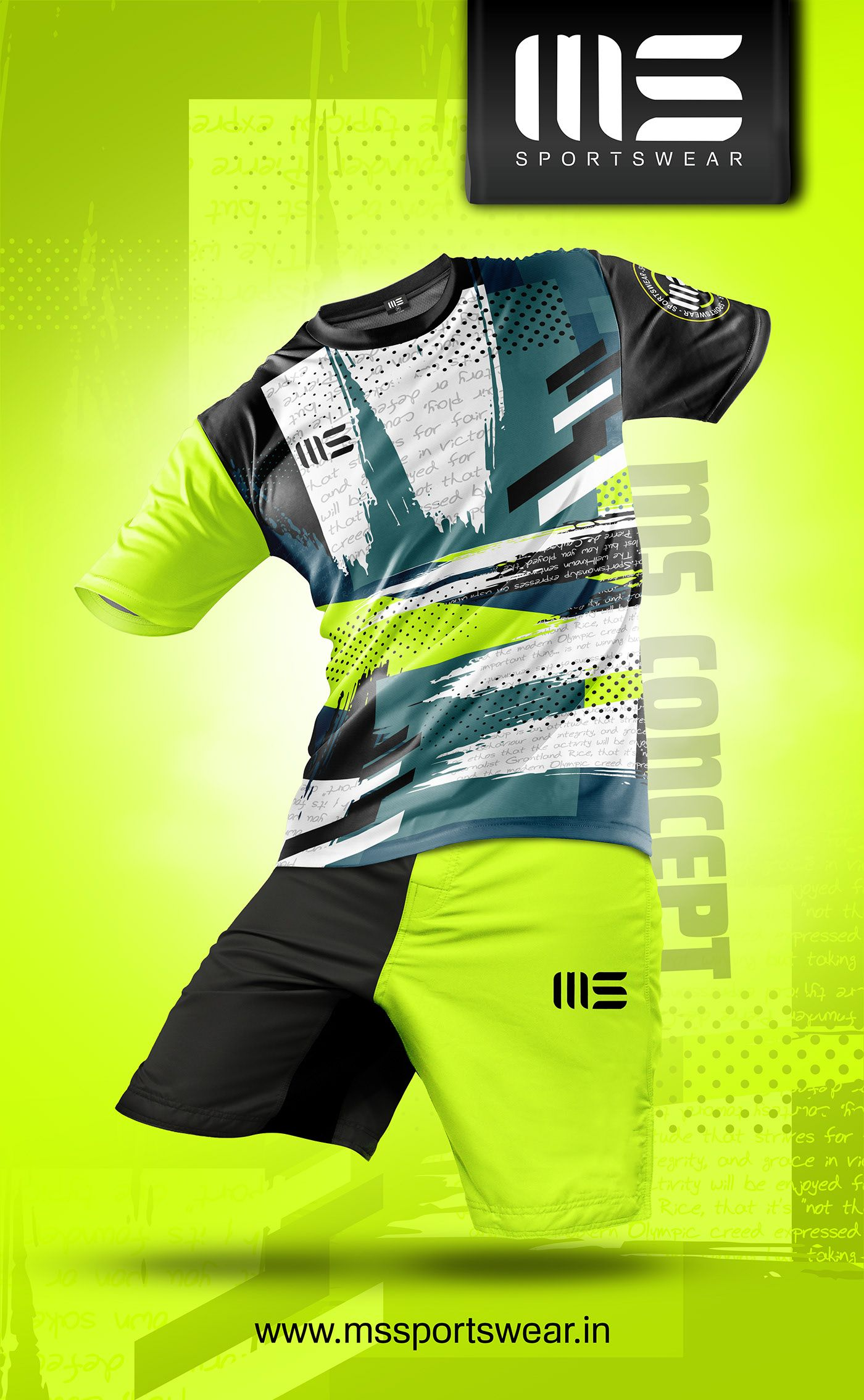 Download Ms Sportswear On Behance In 2020 Football Shirt Designs Sports Uniform Design Sports Tshirt Designs