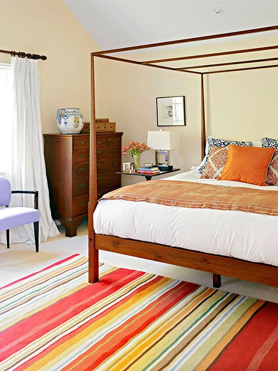 bedroom color schemes pinterest bedrooms blue pillows and wood