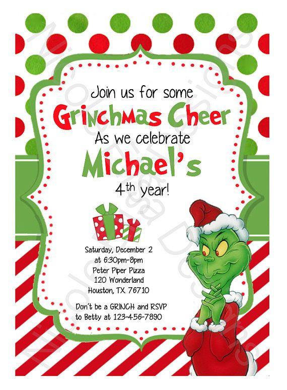 the grinch birthday party invitation