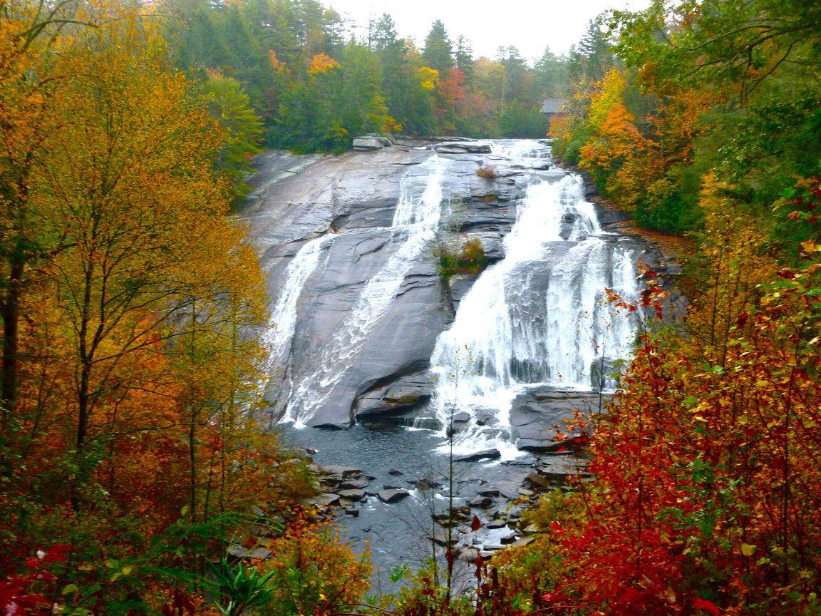 mountains waterfalls forest usa - photo #43