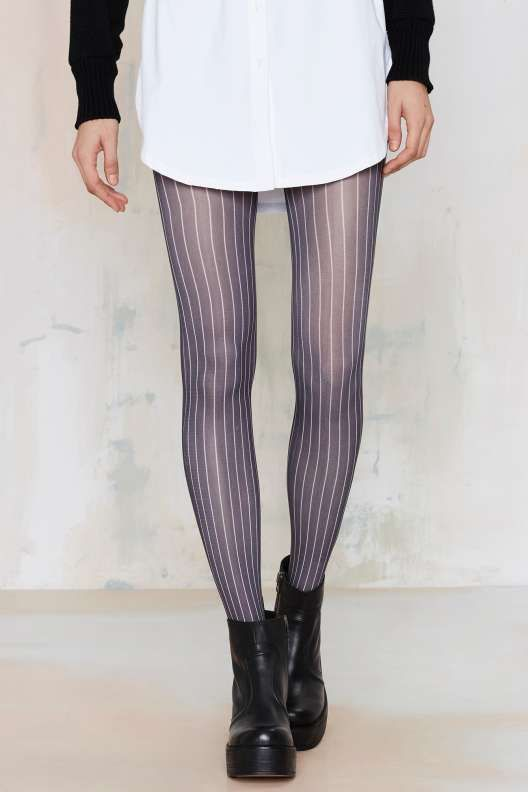Look From London Stripe Right Pinstripe Tights