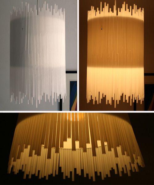 lmparas con pajitas blancas u white straw chandelier craft by allison patrick thedsrblog