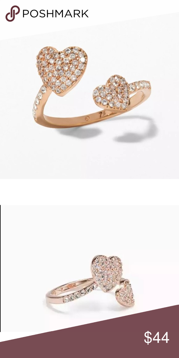 Brand New Rose Gold Adjustable Heart Ring Other Fine Rings Fine Rings