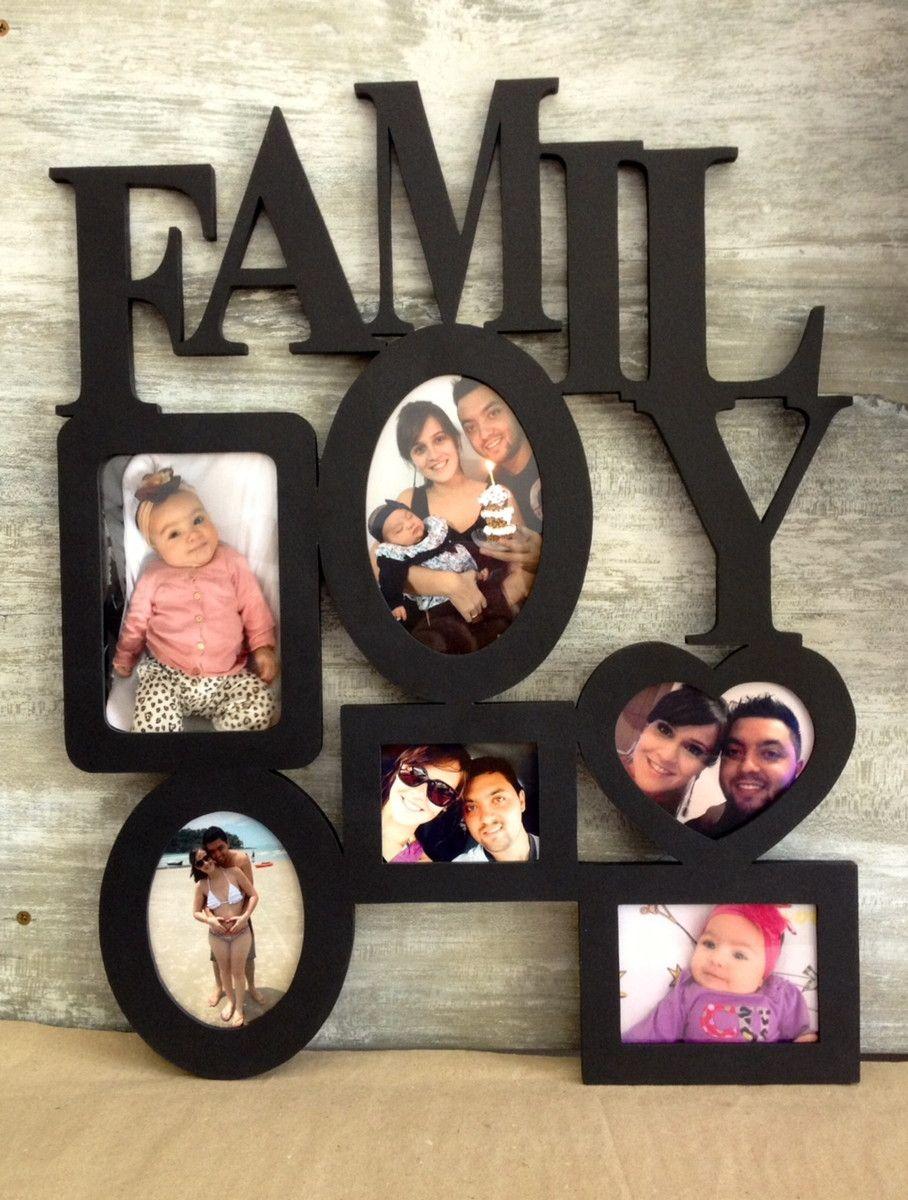 PORTA RETRATOS COM LETRAS DECORATIVAS FAMILY ! <br>Personalize ...