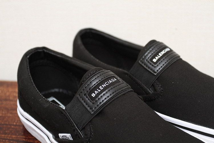 VANS X BALENCIAGA Paris family name Slip On black XH91