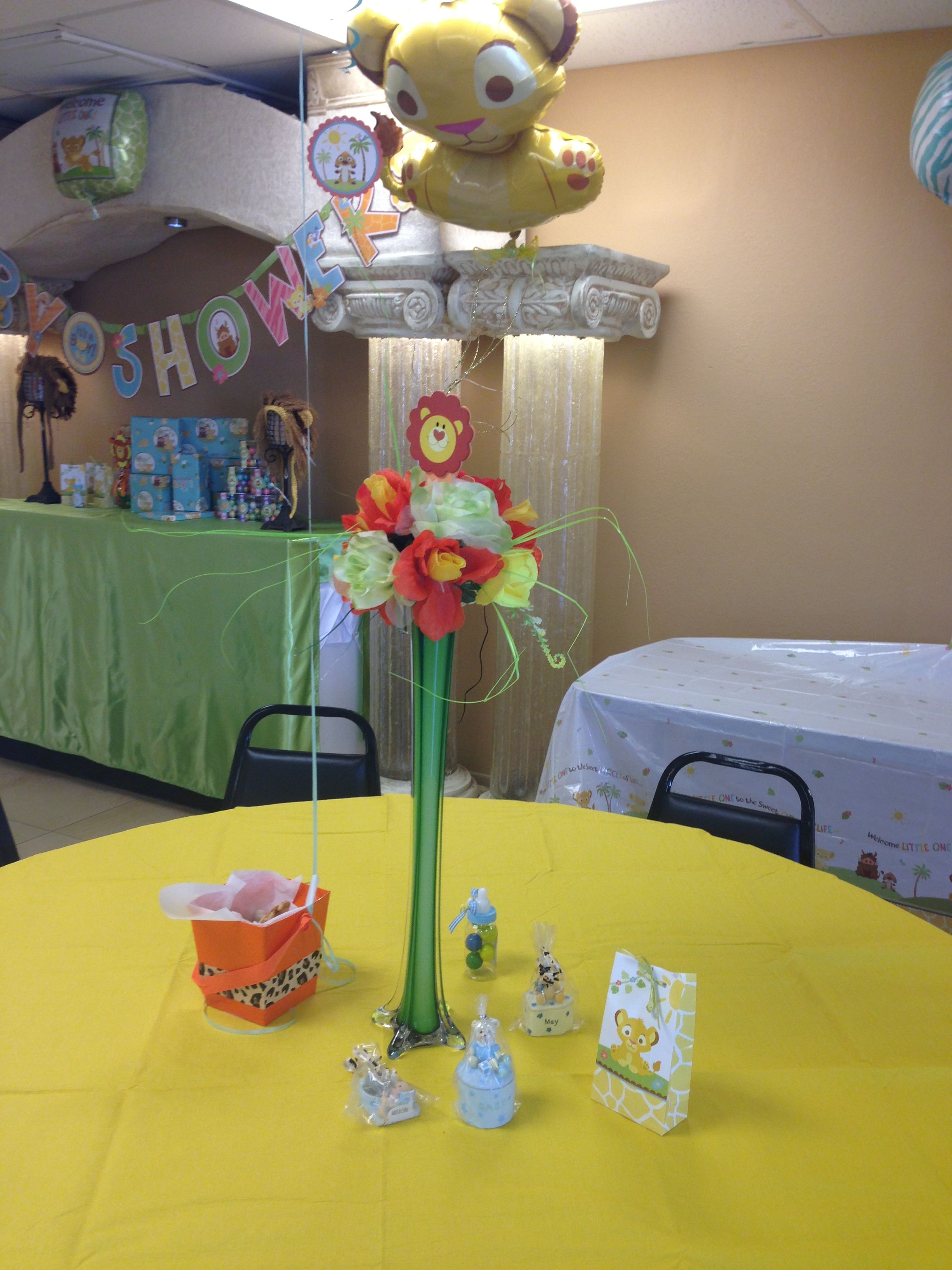 Lion King Baby Shower Centerpieces Baby Julius Baby Shower