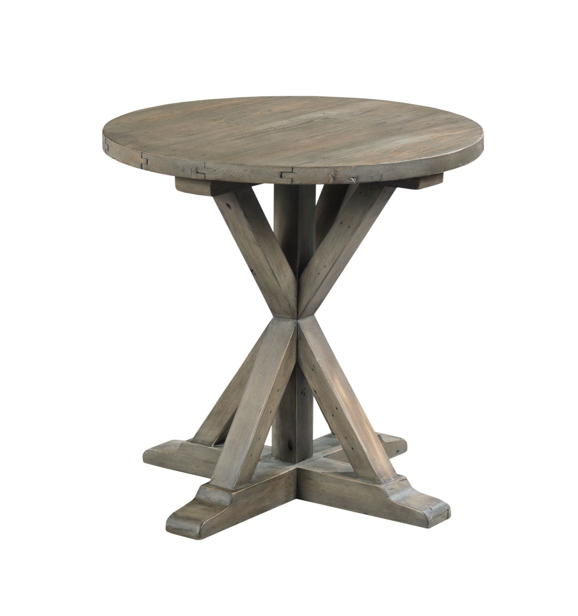 The Reclamation Place accent table by Hammary includes a mixture of wood species, creating a high-low or dark-light look that makes each piece unique. Details such as oxidized stains from old nails and saw marks that reveal previous use tell an intriguing story, and custom hardware and hammered metal accents complete a look that is equally at home in an urban loft or a country home. New for #hpmkt Spring 2015.