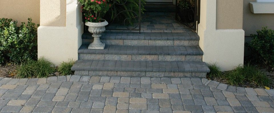 See For Yourself How Pavestone S Pavers Patio Stones Retaining Wall Blocks Edging And Landscape Accessories Front Porch Stone Steps Paver Steps Patio Stones