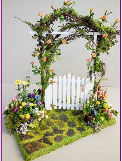 28+ Fairy Garden Gazebo Natural Unfinished