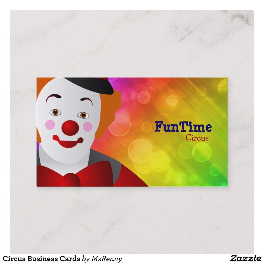 Circus Business Cards Zazzle Com Business Cards Cards Card Template