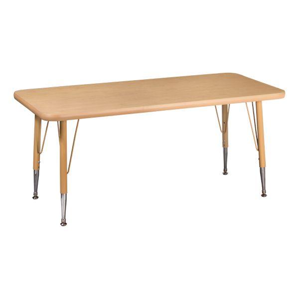 Rectangle Maple Top Preschool Activity Table