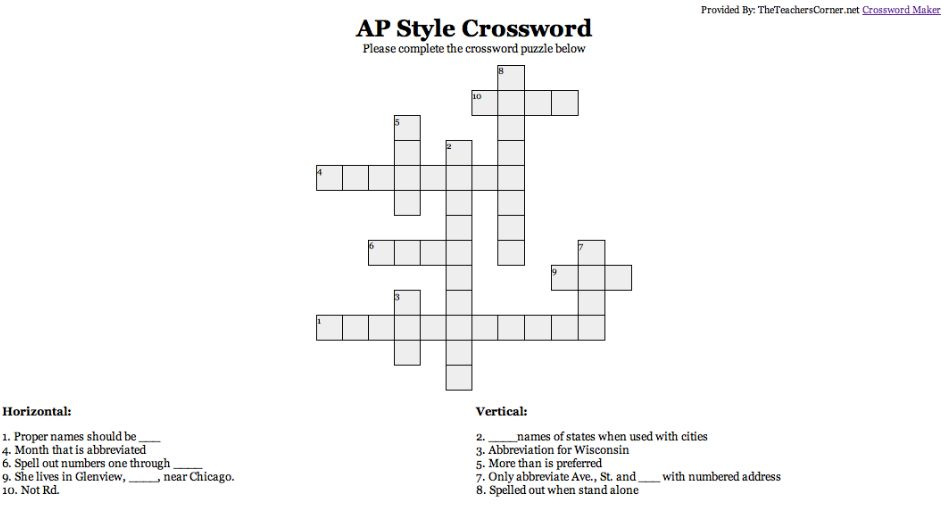 Ap Crossword Public Relations Crossword Helping People