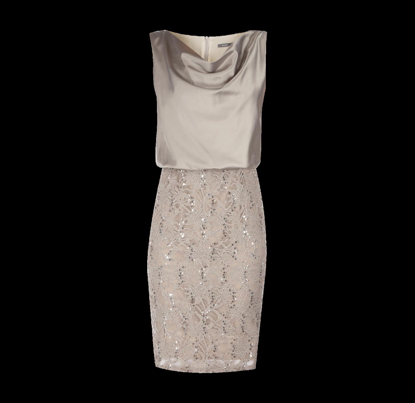 MARIE NOIR Kleid mit Kontrastrockteil  Fashion, Style, Dresses