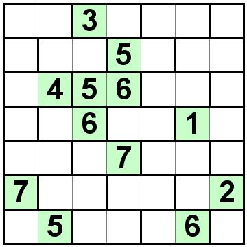 Number Logic Puzzles: 21702 - Bricks size 7
