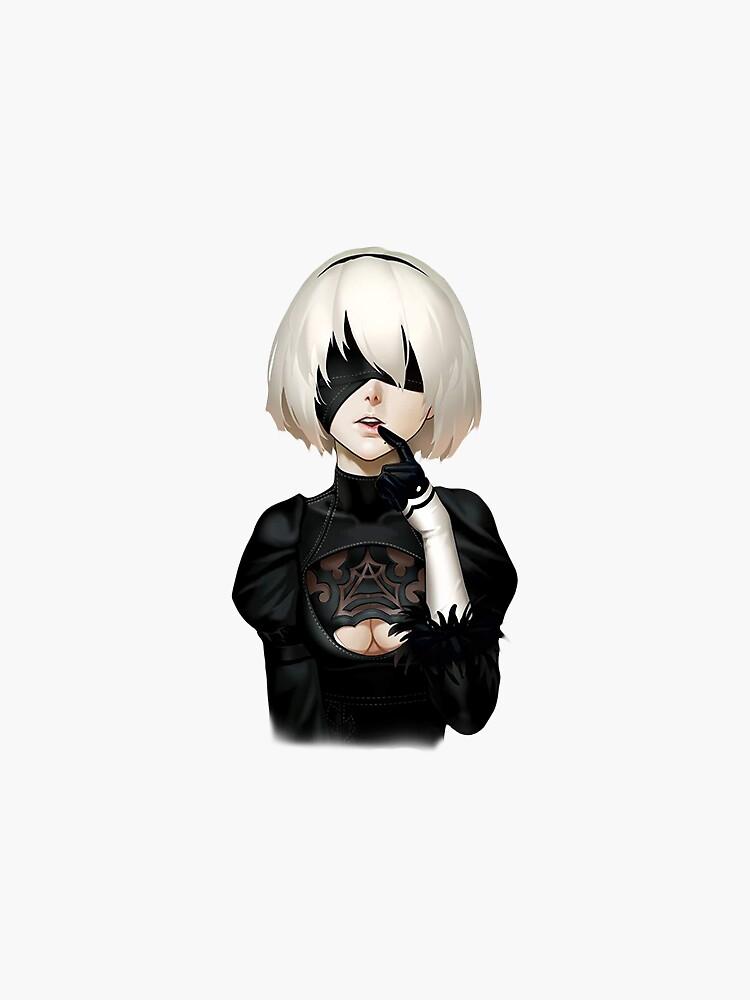 Nier Automata 2b Sticker By Lawliet1568 Nier Automata Automata Anime
