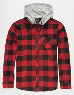 686059f65f3b ROOK Bleached Mens Hooded Flannel Shirt