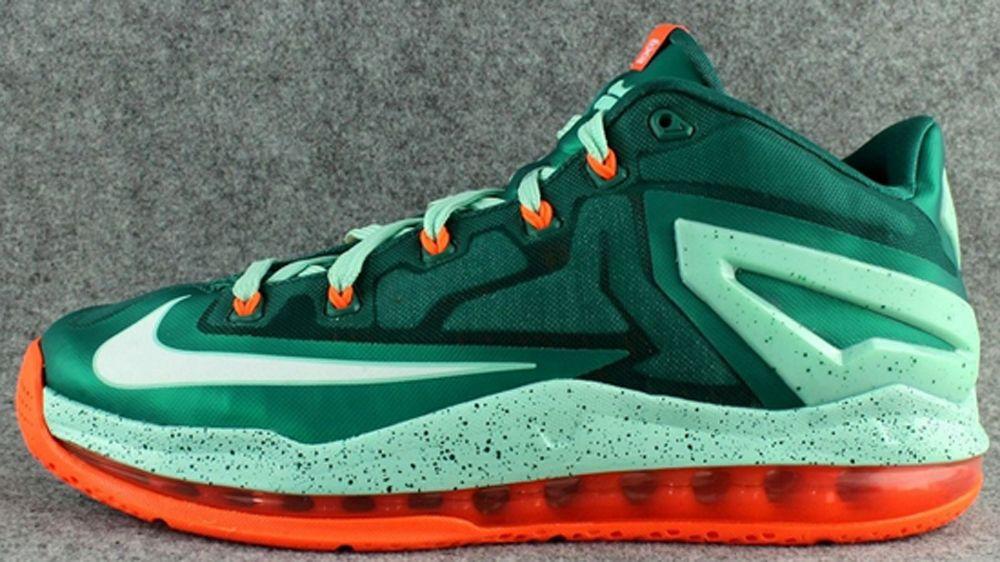 real 642849-313 Nike LeBron 11 Low Mystic Green White-Medium Mint  http   www.retrowhite.com  ed090f944