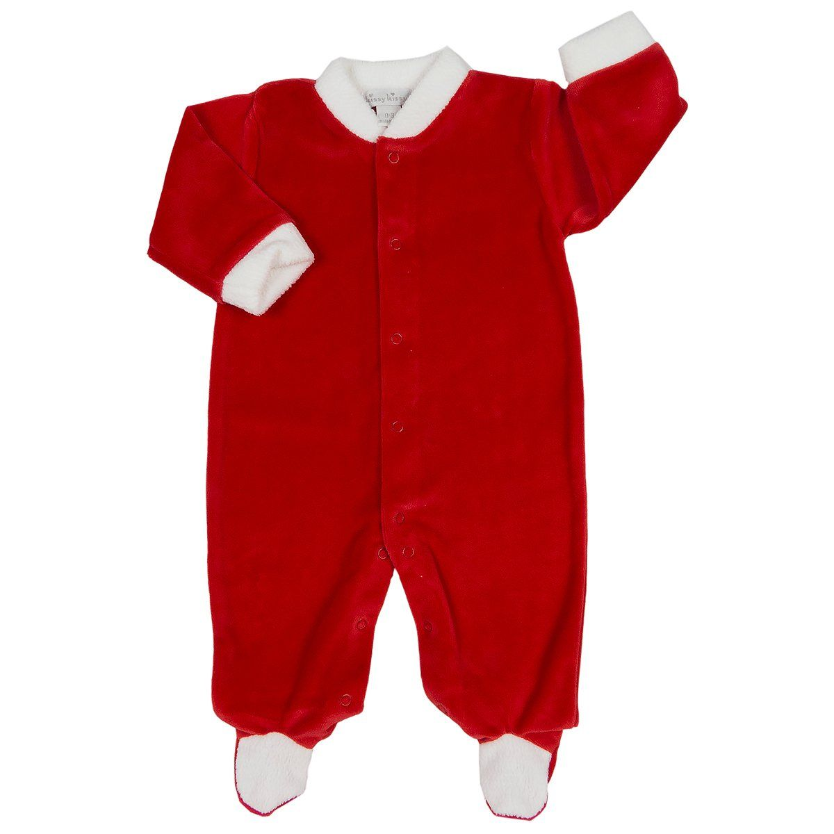 Kissy Kissy Baby-Boys Infant Santas Helpers Velour Overall Set