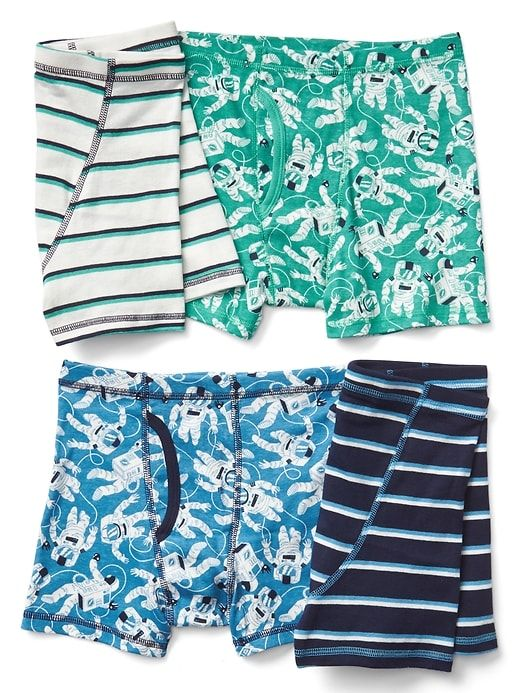 0924e1434add Gap Boys Astronaut Boxer Briefs (4-Pack) Multi | Products | Gap kids ...