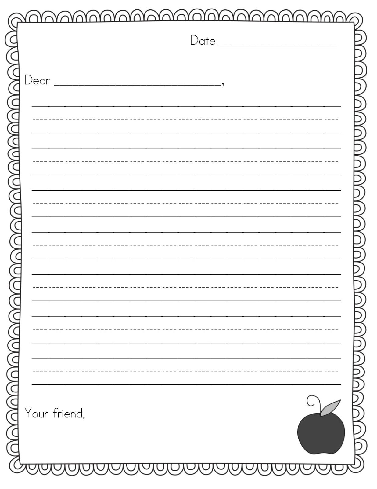 Pen Pal News Friendly Letter Freebie