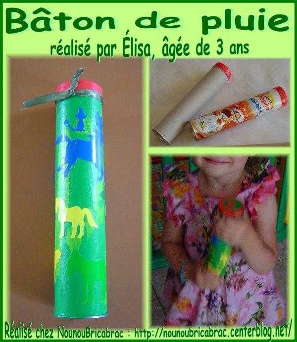 Préférence Bâton de pluie *2* réalisé par Élisa, âgée de 3 ans | Bricolage à  UP76