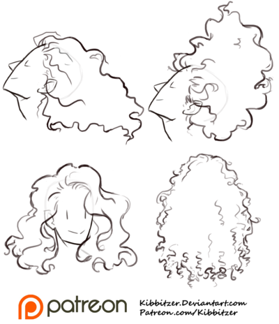 Curly Hair Reference Sheet 1 Art Reference Drawings Curly Hair Drawing