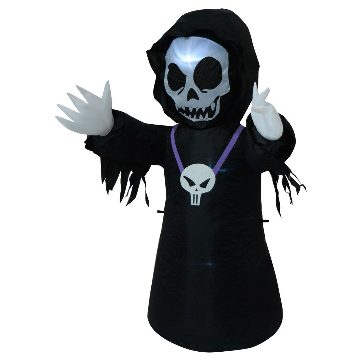 4FT Inflatable Black Ghost Halloween Decoration Yard/Indoor Lighted Air Blown