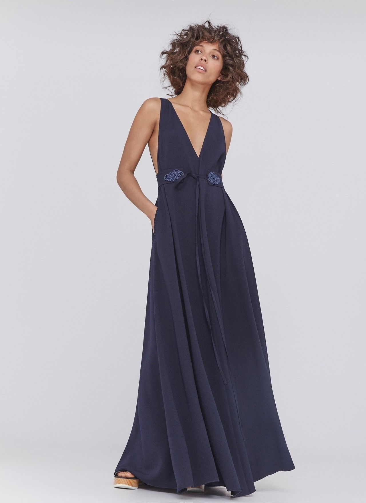 Vestido largo con espalada al aire vestidos adolfo for Vestidos adolfo dominguez outlet online