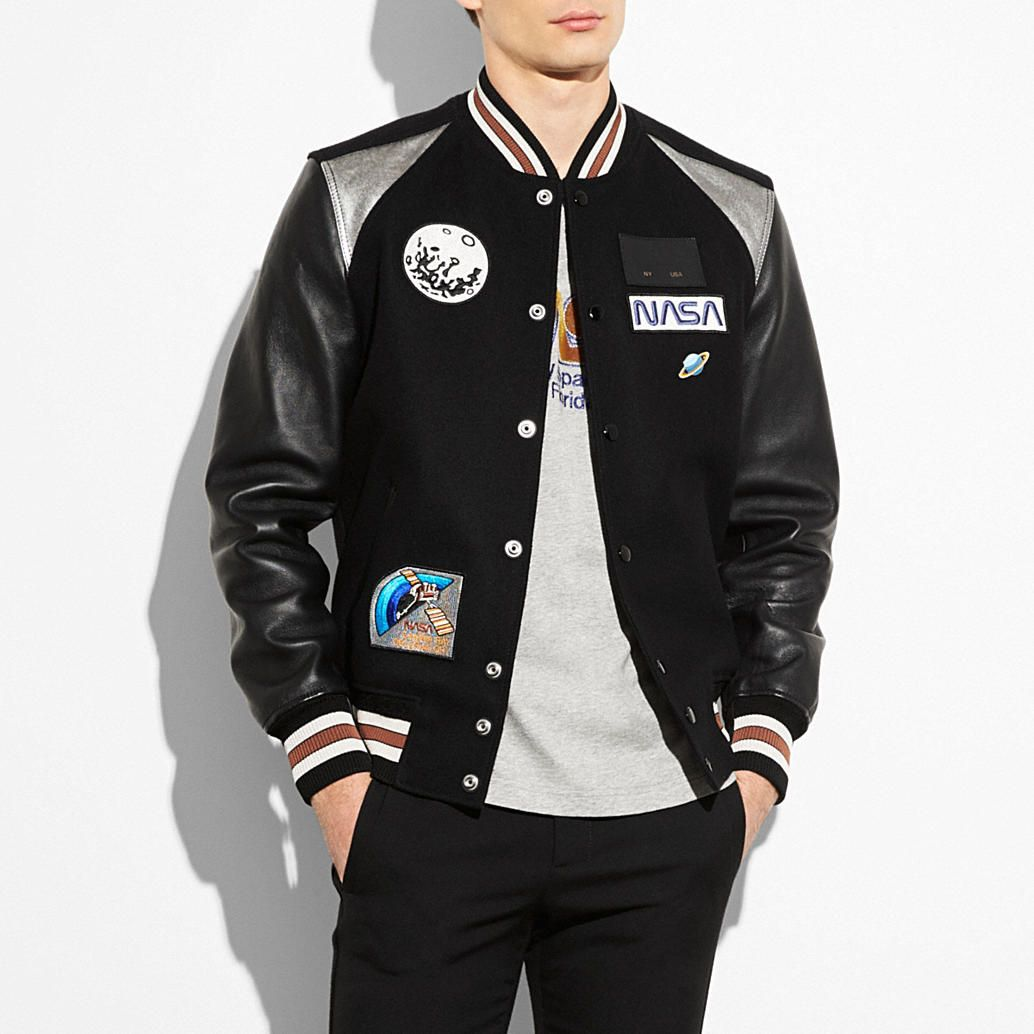 Coach Official Site Designer Handbags Wallets Clothing Menswear Shoes More Varsity Jacket Mens Outdoor Jackets Wool Bomber Jacket [ 1034 x 1034 Pixel ]