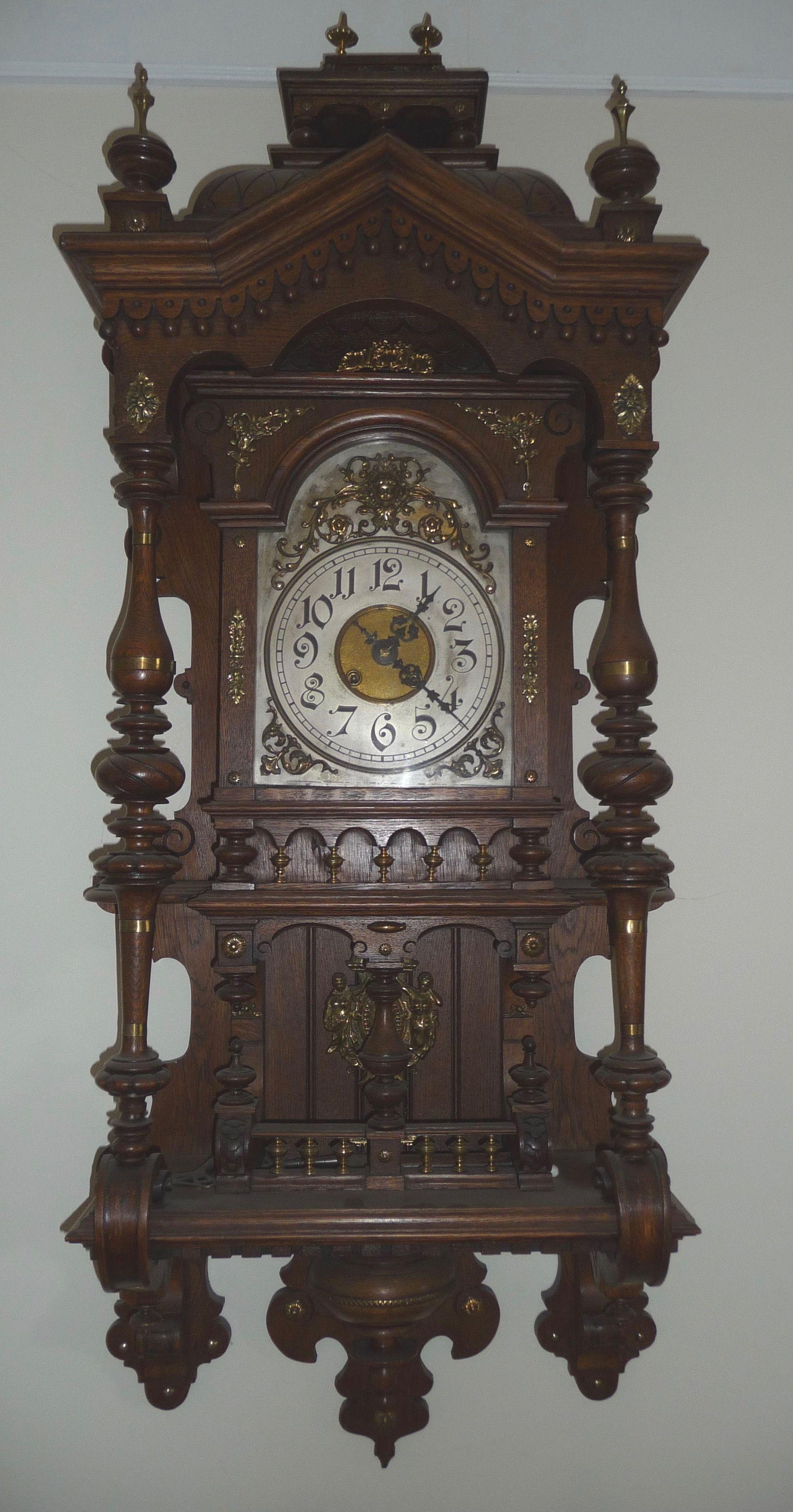 Gustav Becker Balcony Freeswinger Clock Antique Clocks Grandfather Clock