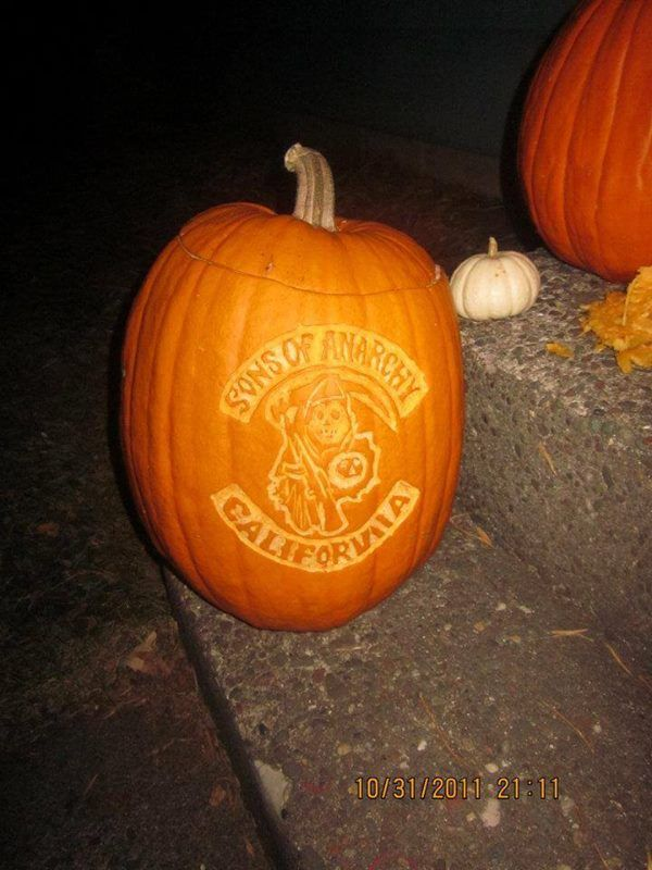 Sons Of Anarchy Halloween Carving Pumpkin Sons Of Anarchy