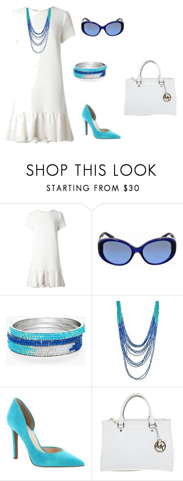 """""""Untitled #3"""" by bhagyashri-mayee-sawant on Polyvore featuring Miss Selfridge, Ralph Lauren, Chico's, Jessica Simpson and Michael Kors"""