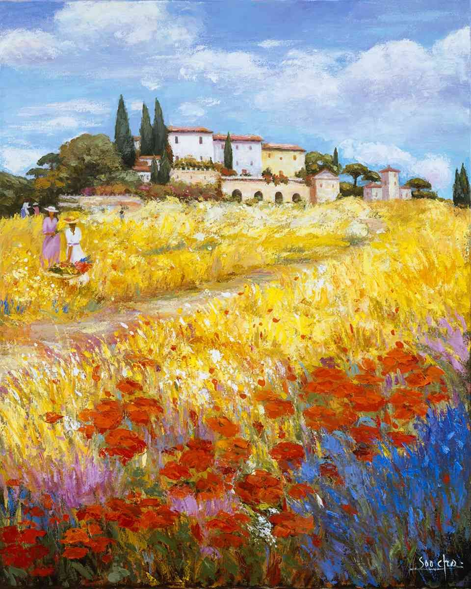 tuscany landscape painting | I love Italy, see why. | Pinterest ...