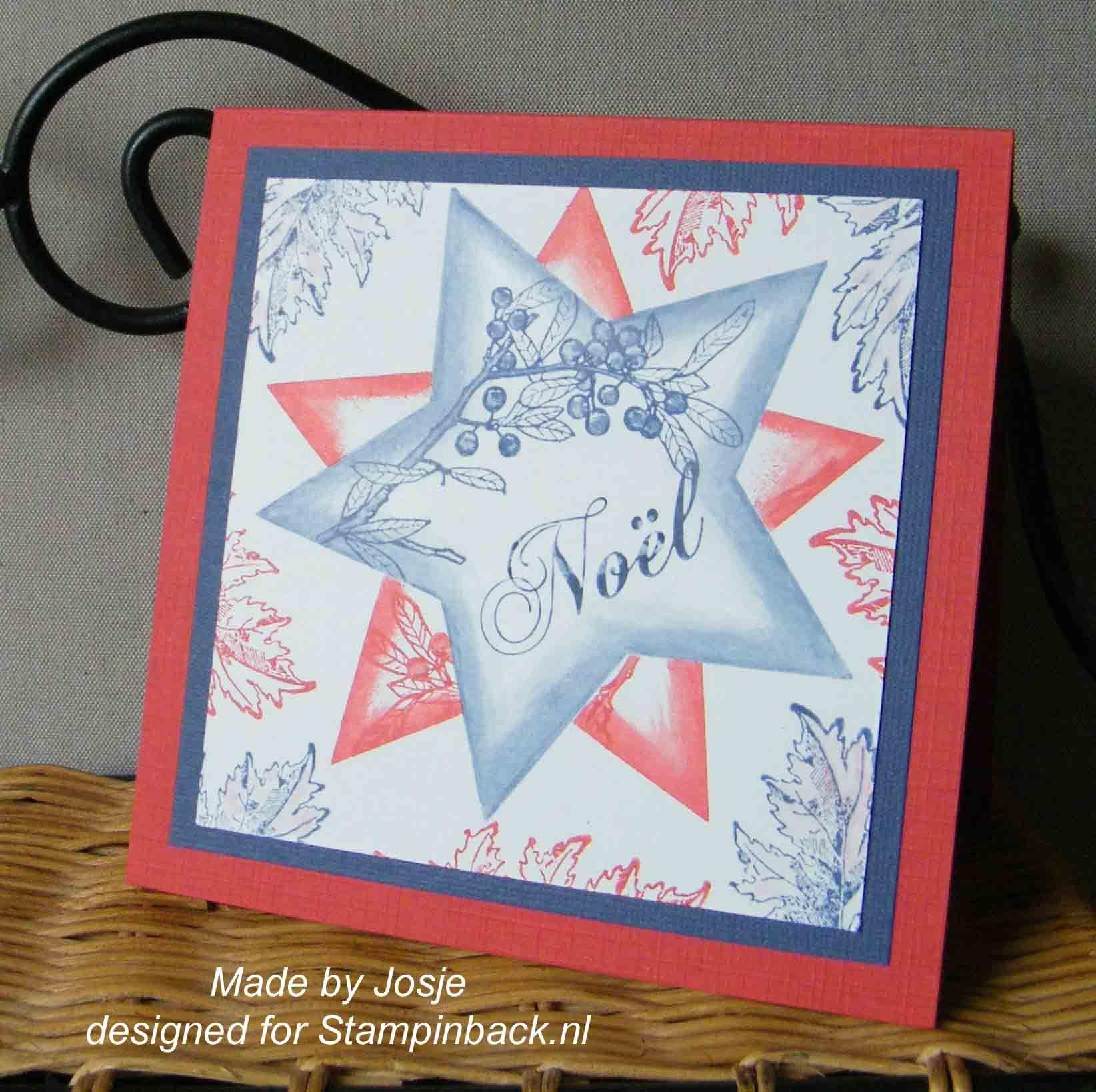 Stampinback.nl  Fake Christmas stars (one layer card)