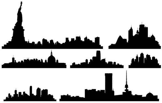 City Skylines City Skyline City Skyline Silhouette Vector Free