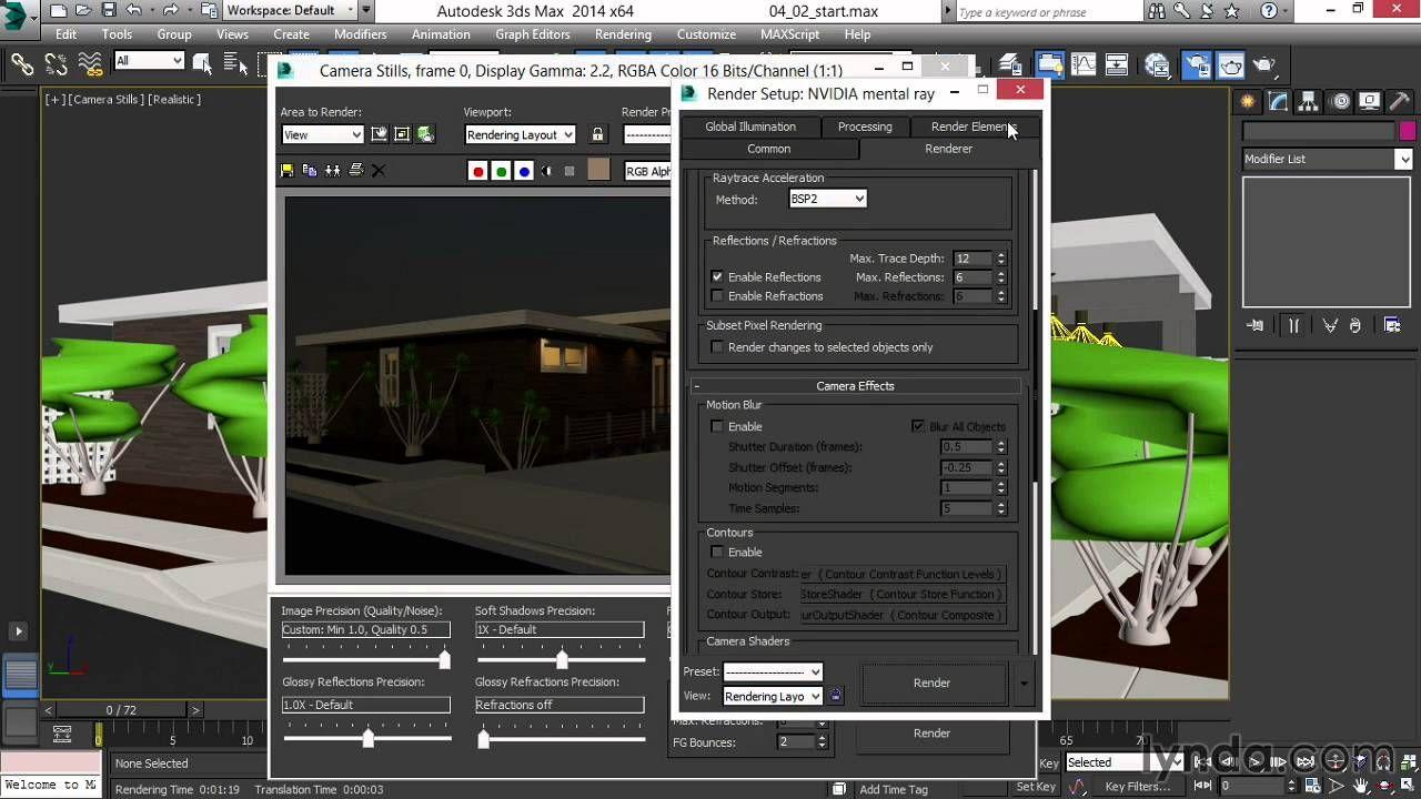 3d max Adjusting luminous and lit surfaces