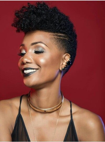Tapered Twa Shaved Sides … | Hair Ting Dem | Pinterest ...