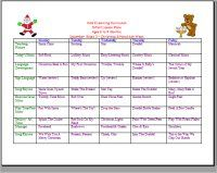 December Infant Curriculum Calendar For Christmas And Hanukkah