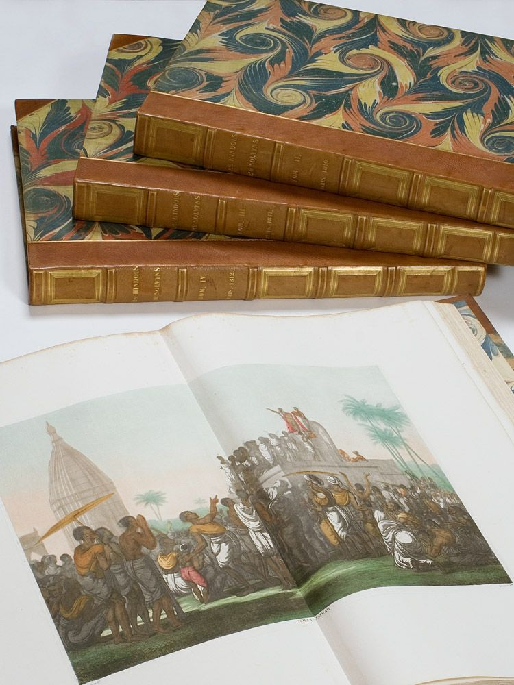Superb Example Of Solvyns Enormous Colour Illustrated Work On Late 18th C India Paris Chez L Auteur Rare Books For Sale Rare Books Antique Books For Sale